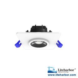 Liteharbor 3 Inch Square Shape LED Eyeball Downlight